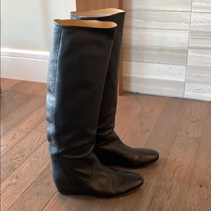 Authentic Lanvin Knee-high Leather Boots